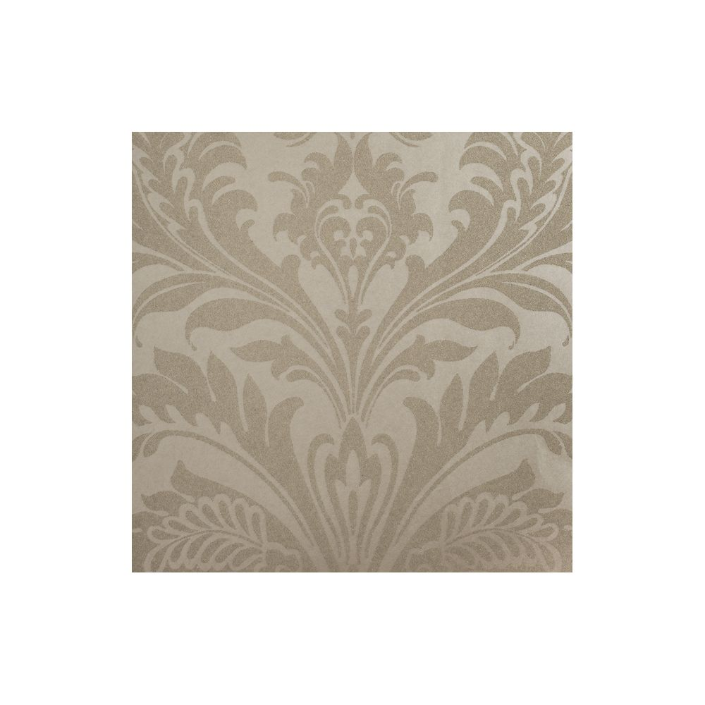 JF Fabrics 8003-13 Wallcovering Beaded Damask Half Drop Wallpaper