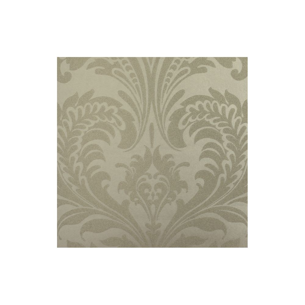 JF Fabrics 8003-75 Wallcovering Beaded Damask Half Drop Wallpaper