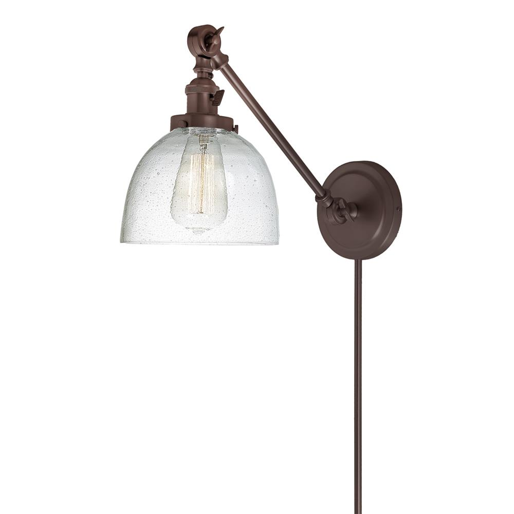 JVI Designs 1255-08 S5-CB Soho One Light  Double Swivel Clear Bubble Madison Wall Sconce in Oil Rubbed Bronze