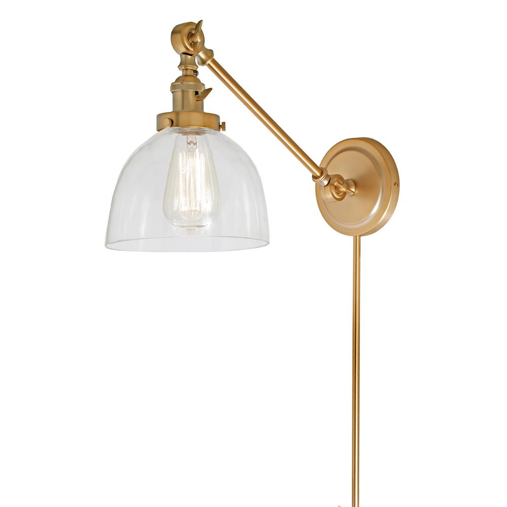 JVI Designs 1255-10 S5 Soho One Light  Double Swivel Madison Wall Sconce in Satin Brass
