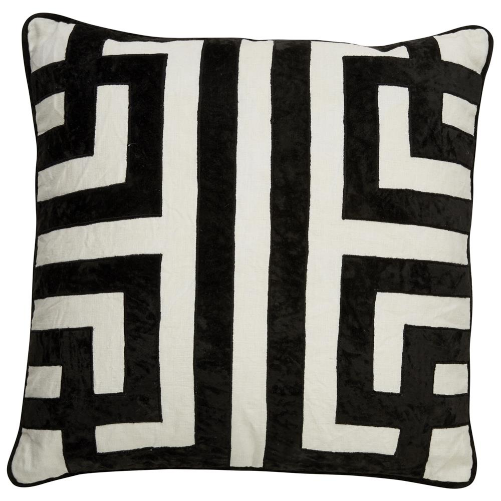 "Jaipur Living PLC101486 Cosmic By Nikki Chu 22"" x22"" Pillow in Ivory & White"