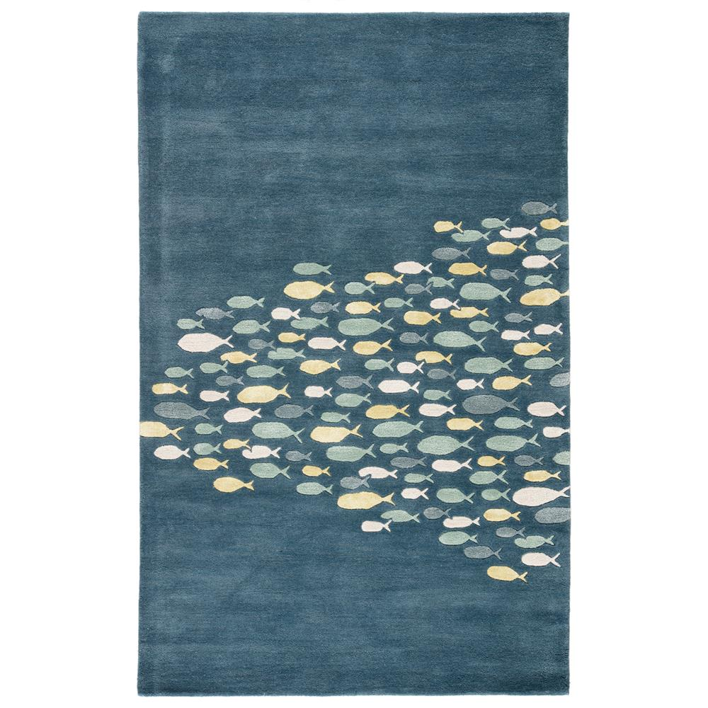 Jaipur Living COR01 Schooled Handmade Animal Blue/ Gray Area Rug (2