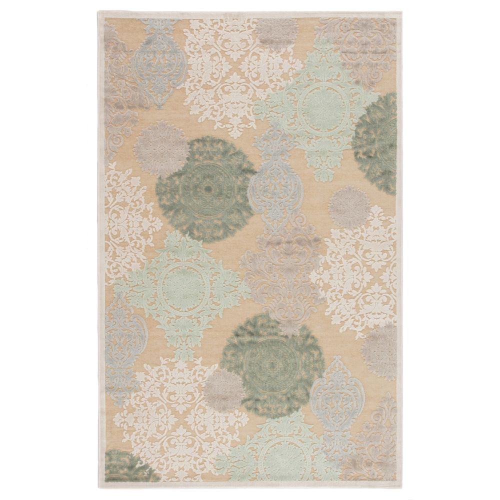 Jaipur Living FB19 Wistful Medallion Beige/ Green Area Rug (9