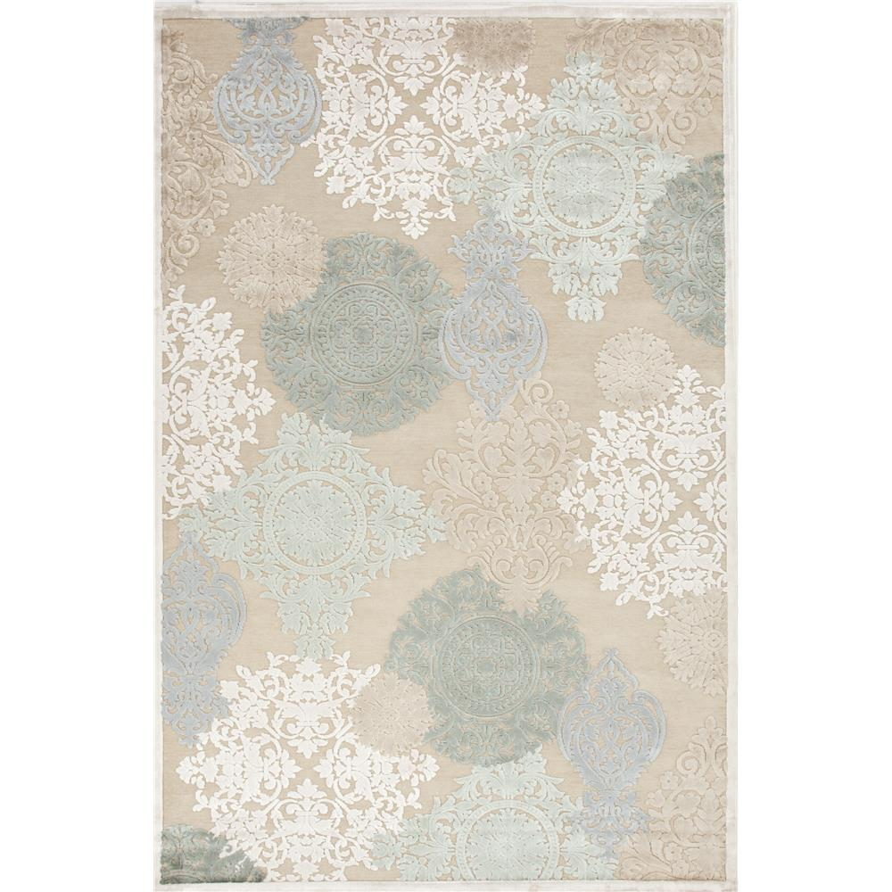 Jaipur Living FB19 Wistful Medallion Beige/ Green Area Rug (2