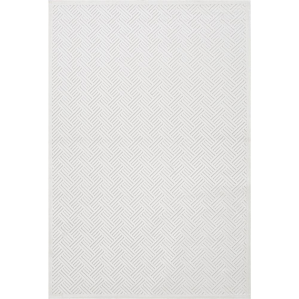 Jaipur Living FB44 Thatch Geometric White Area Rug (2