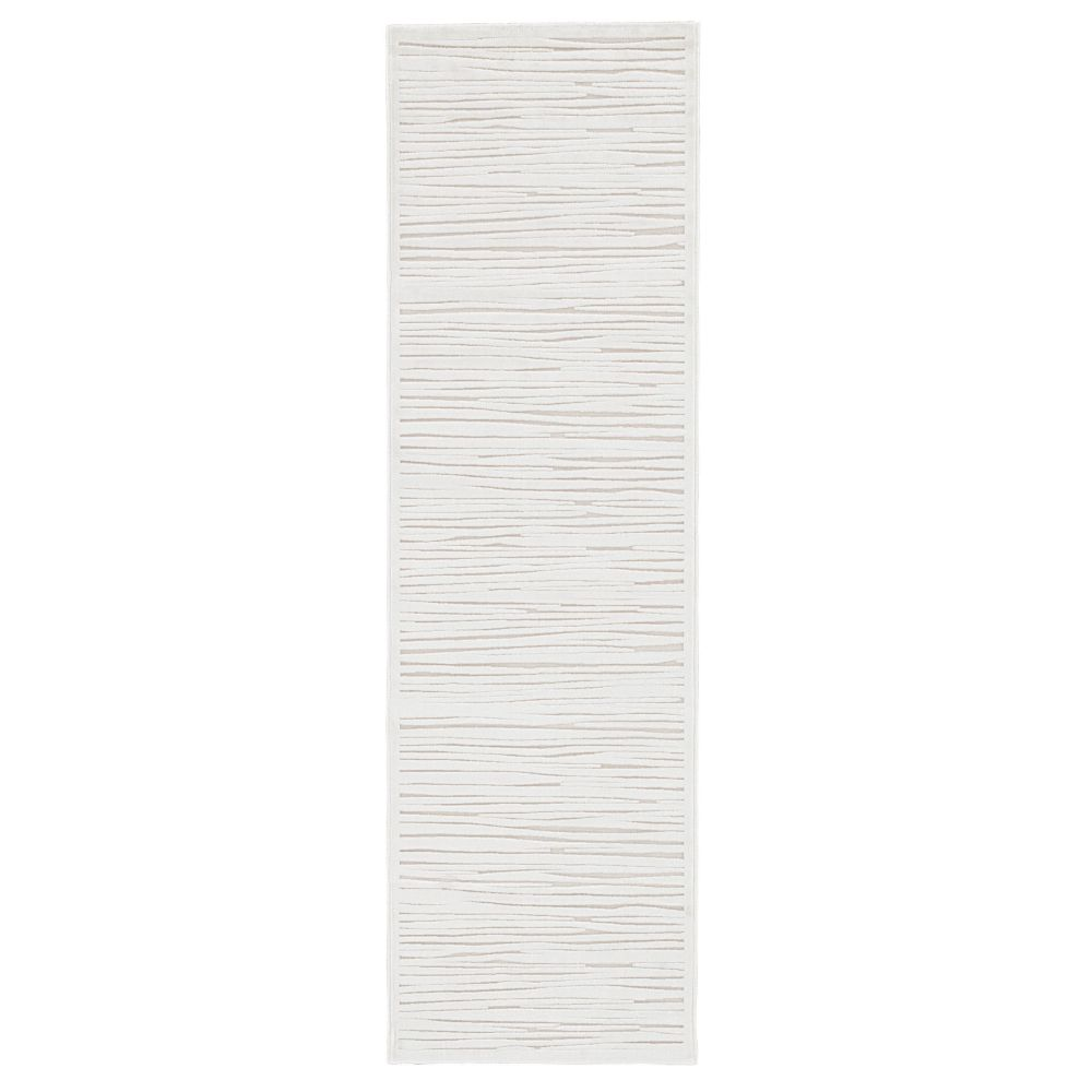 Jaipur Living FB53 Linea Abstract White Runner Rug (2
