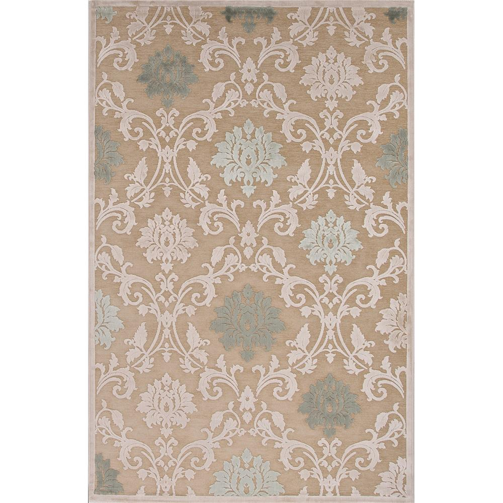 Jaipur Living FB88 Glamourous Damask Beige/ Green Area Rug (5