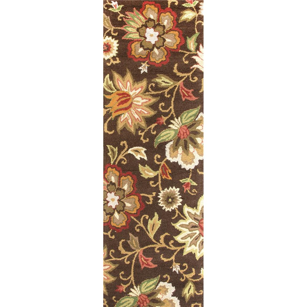 Jaipur Living HAC07 Zamora Handmade Floral Brown/ Multicolor Runner Rug (2