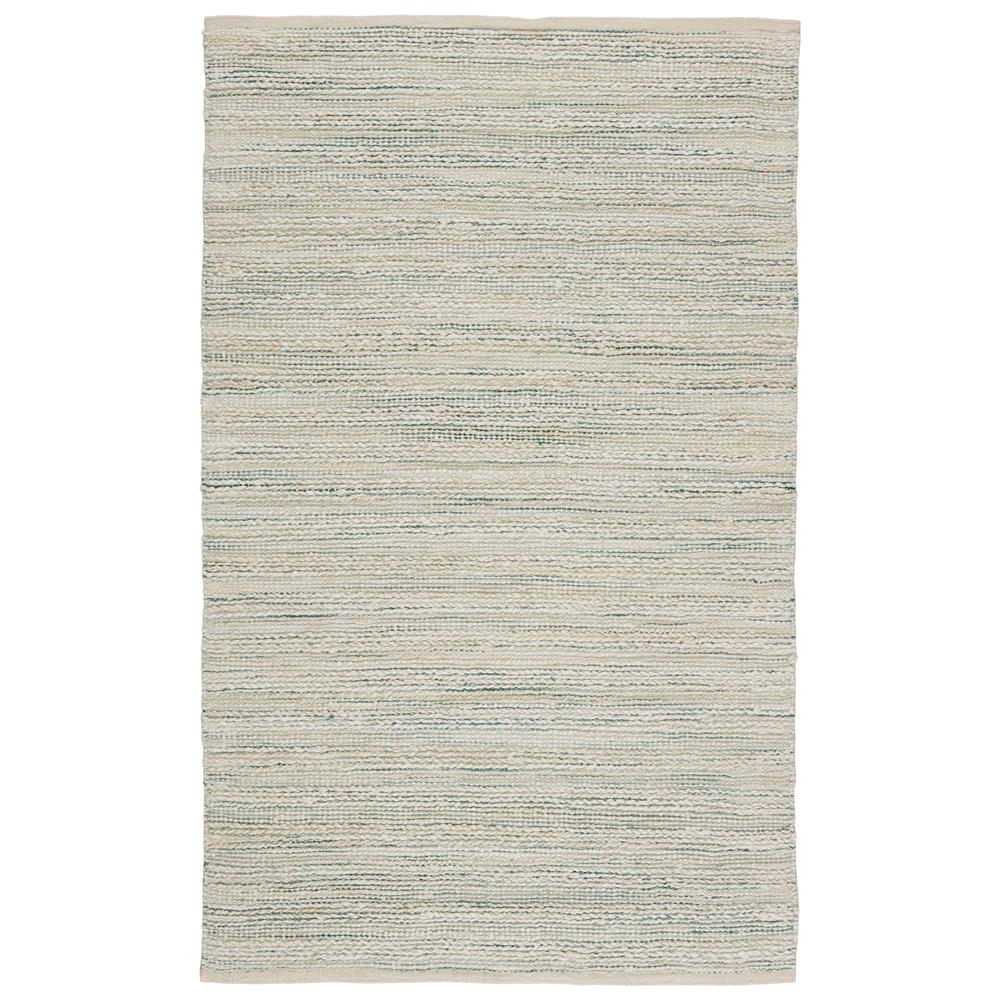 Jaipur Living HM27 Canterbury Natural Stripe White/ Turquoise Area Rug (5