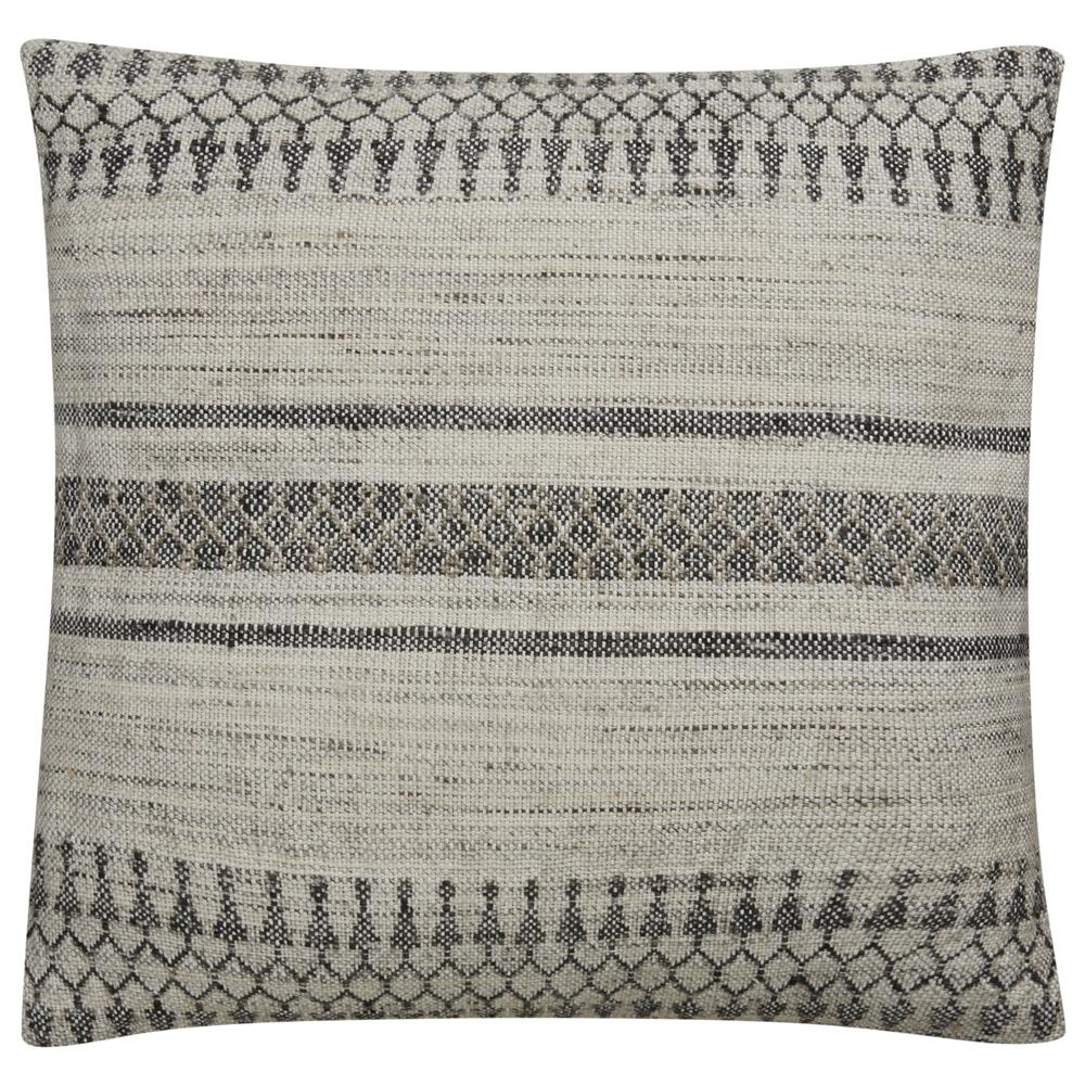 "Jaipur Living PLC101525 Peykan 20"" x20"" Pillow in Ivory & White"