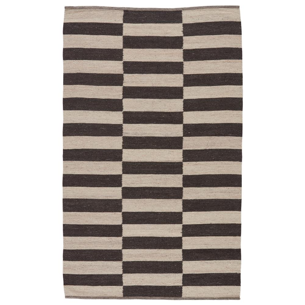 Jaipur Living SCN05 Demi Handmade Stripe Dark Gray/ Cream Area Rug (8