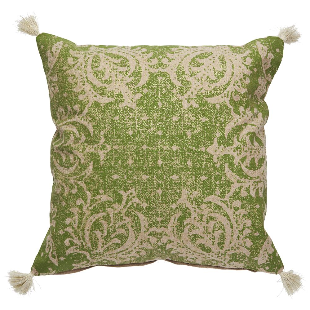 "Jaipur Living VED05 Verdigris 22"" x22"" Pillow in Pebble"