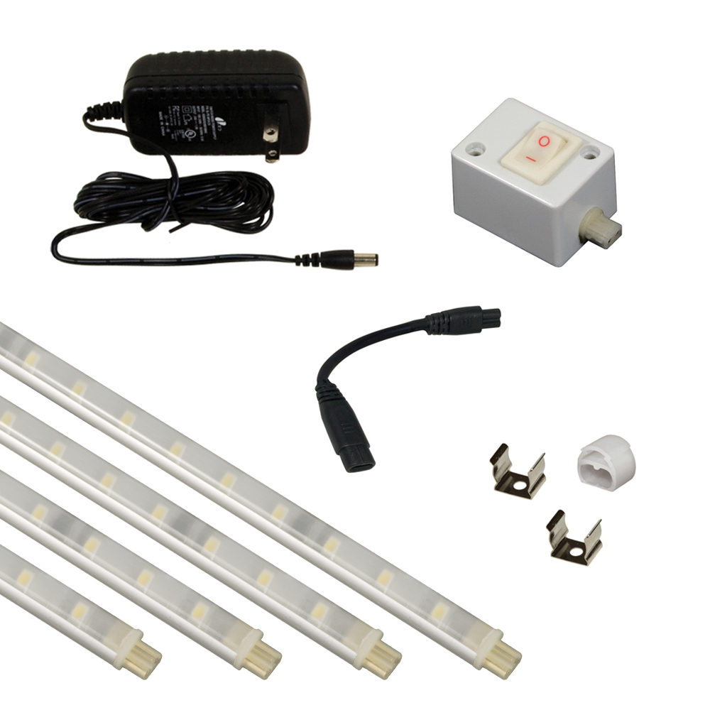 Jesco KIT-S601-12-30-A ORIONIS 4Ft Led Slim Stix Linkable Kit in ALUMINUM