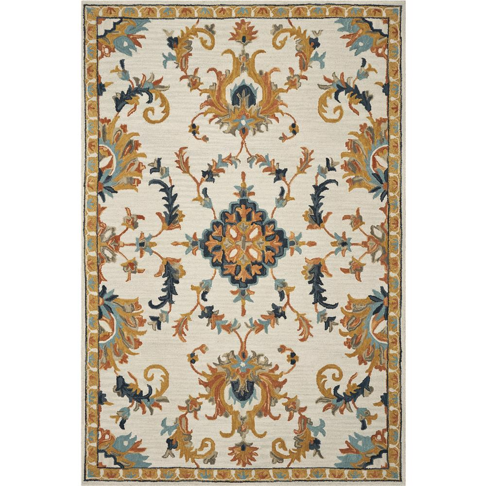 KAS BRO2950 Brooklyn 2 Ft. 3 In. X 8 Ft. Runner Rug in Ivory