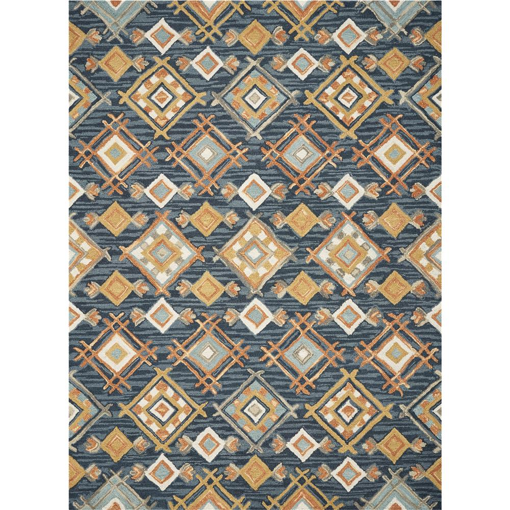 KAS BRO2952 Brooklyn 2 Ft. 3 In. X 8 Ft. Runner Rug in Denim