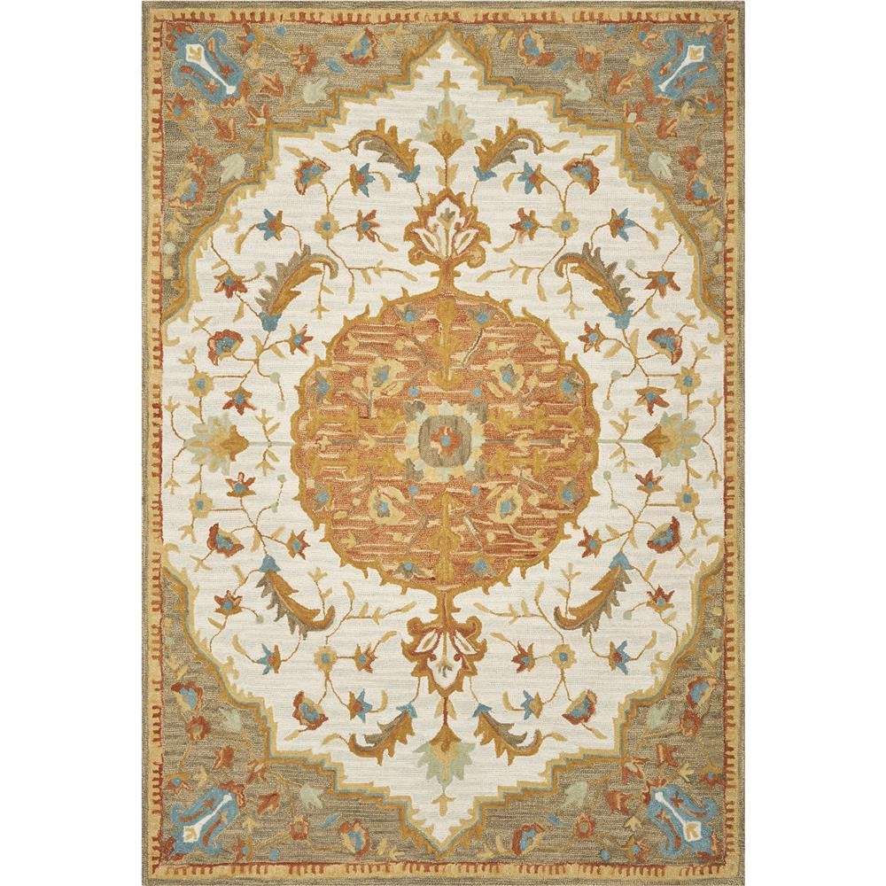 KAS BRO2955 Brooklyn 2 Ft. 3 In. X 8 Ft. Runner Rug in Ivory