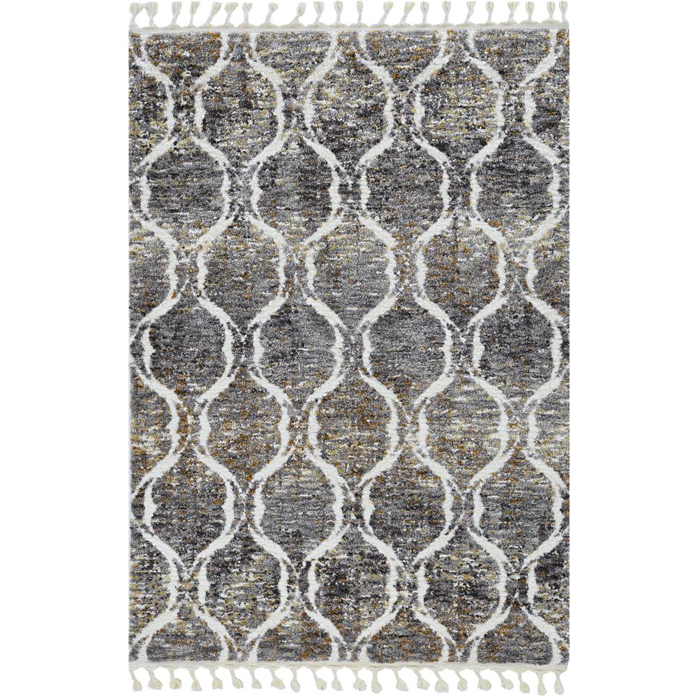 KAS 2300 Bungalow 2 Ft. 2 In. X 7 Ft. 6 In. Runner Rug in Grey/Sand