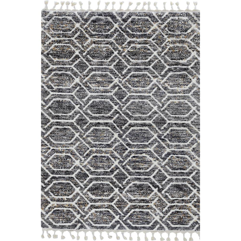 KAS 2301 Bungalow 2 Ft. 2 In. X 7 Ft. 6 In. Runner Rug in Grey