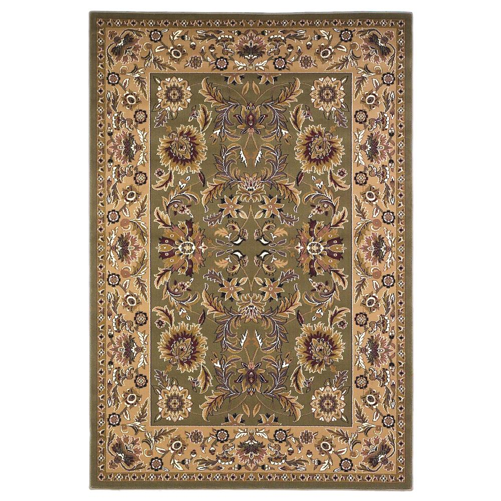 KAS 7304 Cambridge 2 Ft. 2 In. X 7 Ft. 11 In. Runner Rug in Green/Taupe
