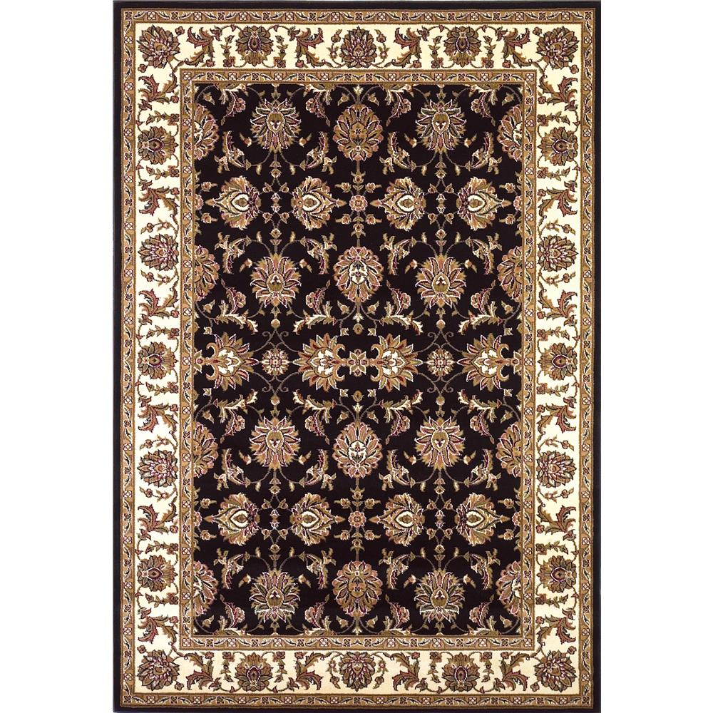 KAS 7313 Cambridge 2 Ft. 8 In. X 2 Ft. 7 In. Rectangle Rug in Black/Ivory