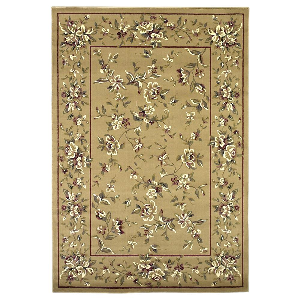 KAS 7338 Cambridge 2 Ft. 8 In. X 2 Ft. 7 In. Rectangle Rug in Beige