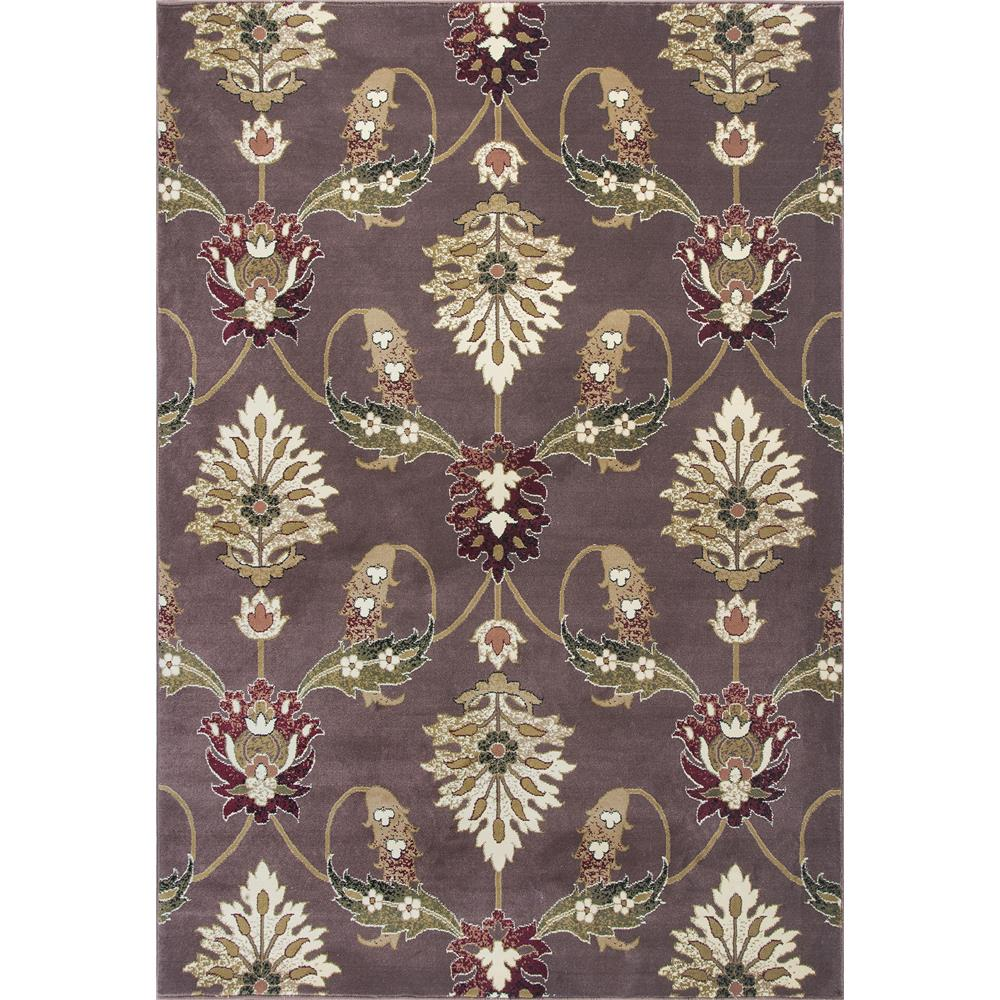 KAS 7363 Cambridge 2 Ft. 8 In. X 2 Ft. 7 In. Rectangle Rug in Plum