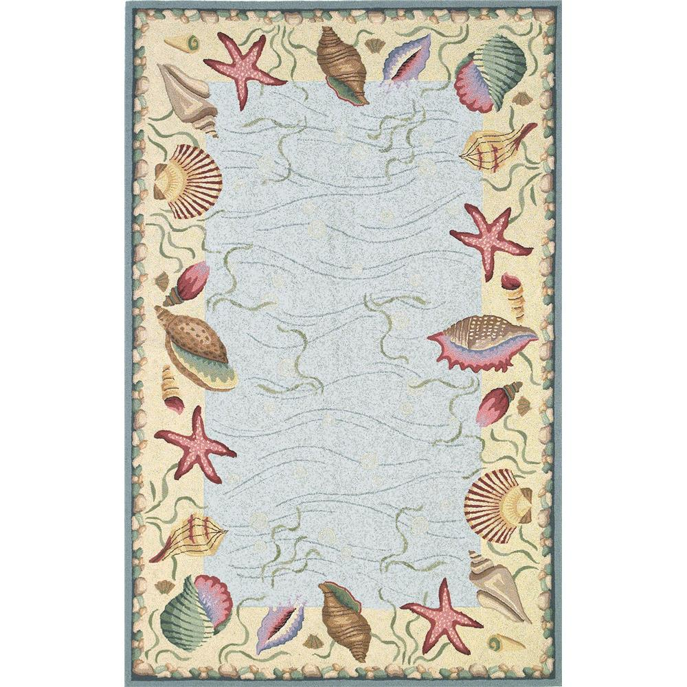 KAS 1804 Colonial 2 Ft. 6 In. X 4 Ft. 2 In. Rectangle Rug in Blue/Ivory