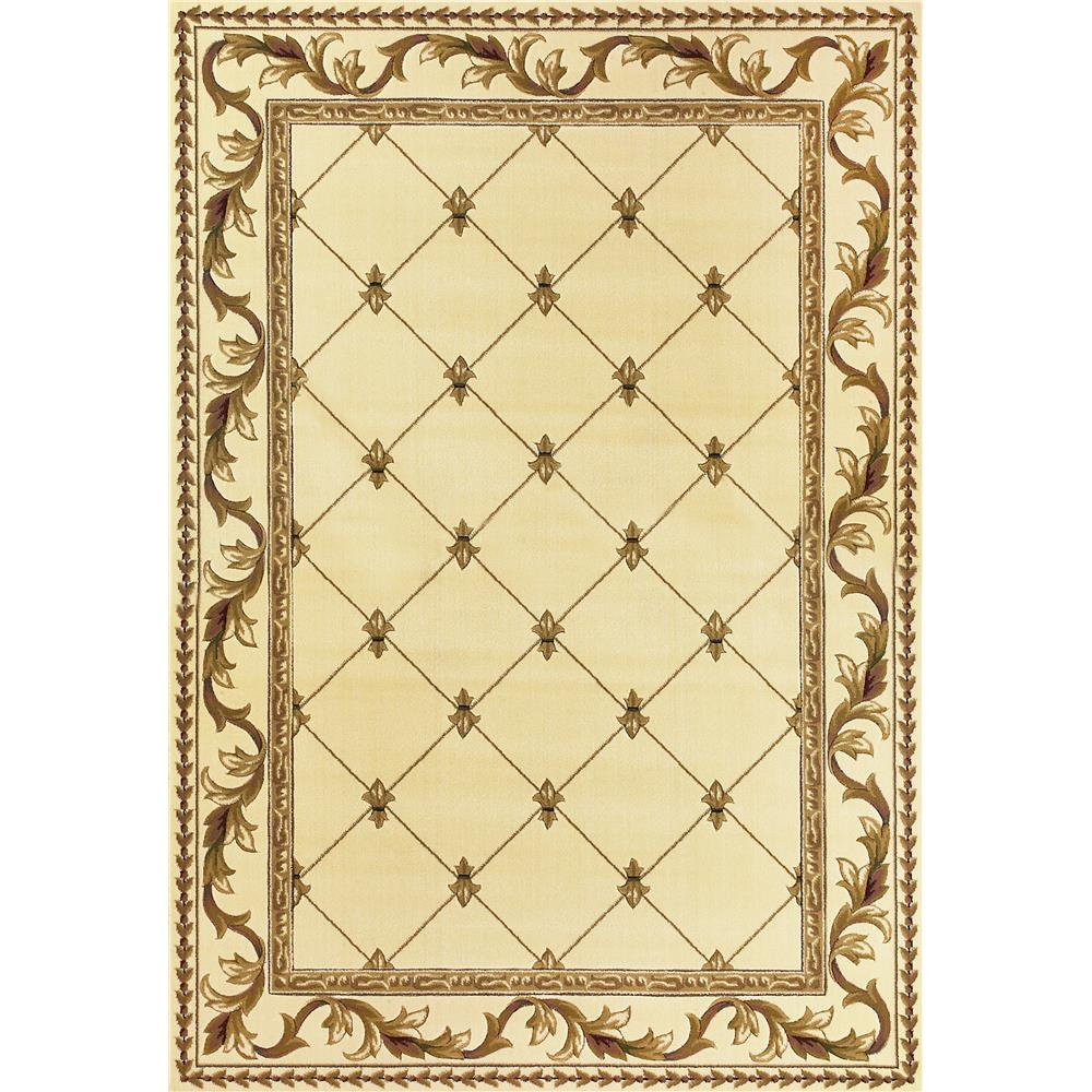 KAS 5318 Corinthian 2 Ft. 8 In. X 2 Ft. 7 In. Rectangle Rug in Ivory