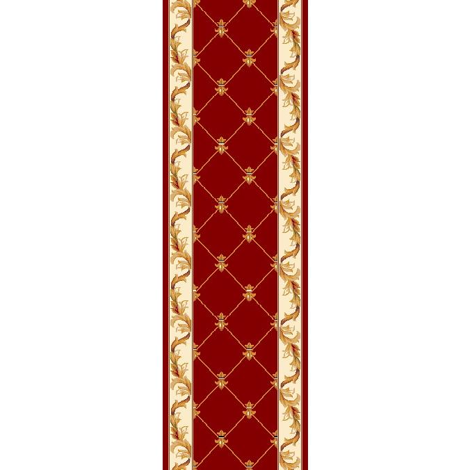 KAS 5319 Corinthian 2 Ft. 2 In. X 7 Ft. 11 In. Runner Rug in Red