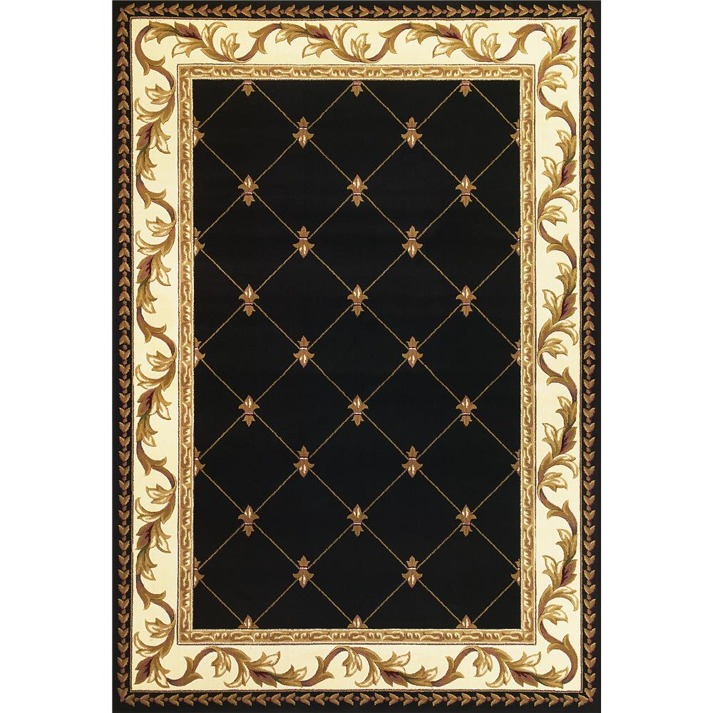 KAS 5321 Corinthian 2 Ft. 8 In. X 2 Ft. 7 In. Rectangle Rug in Black