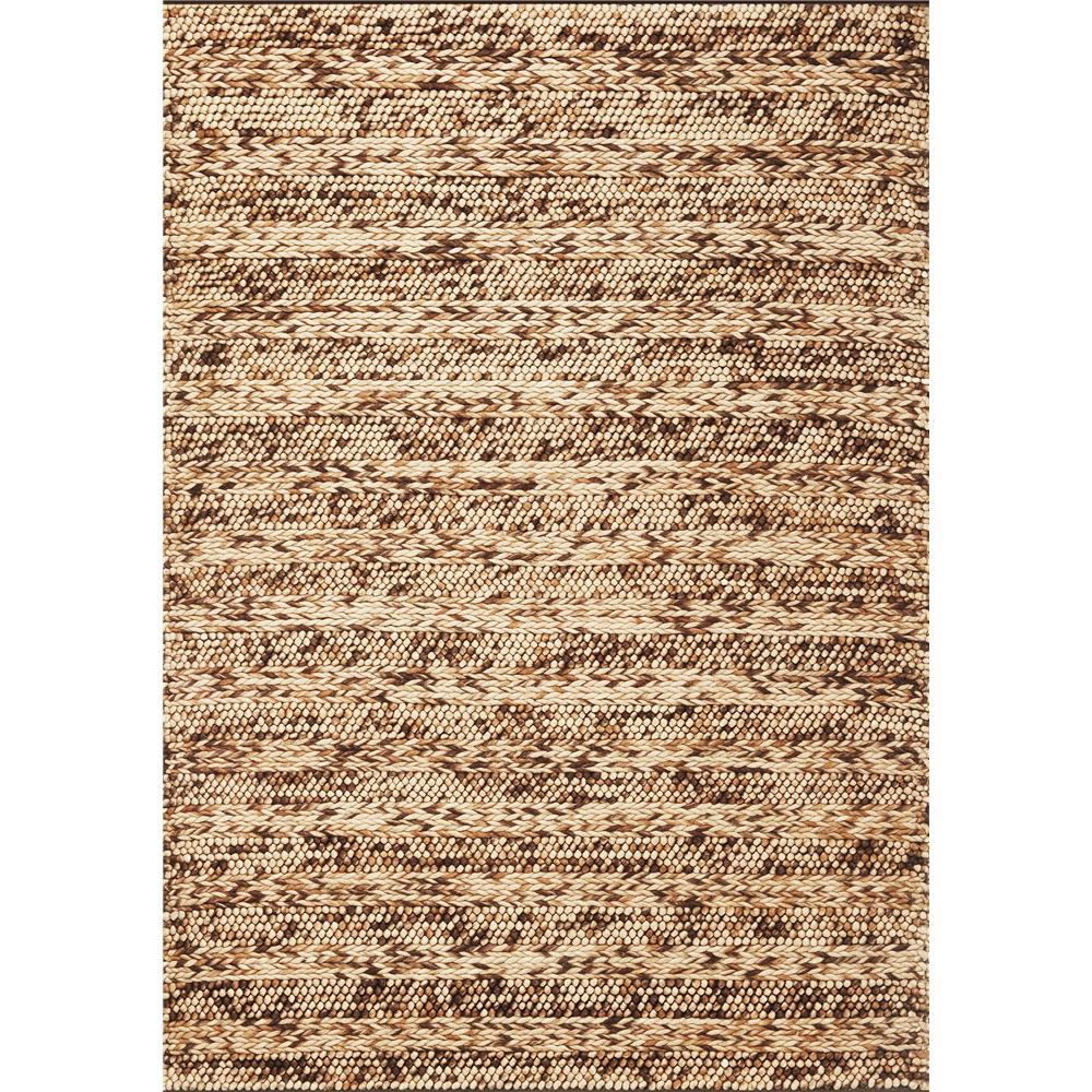 KAS 6150 Cortico 5 Ft. X 7 Ft. Rectangle Rug in Coffee