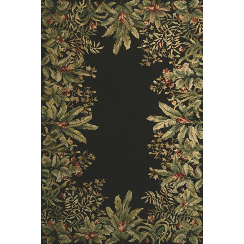 KAS 9001 Emerald 2 Ft. X 3 Ft. Rectangle Rug in Black