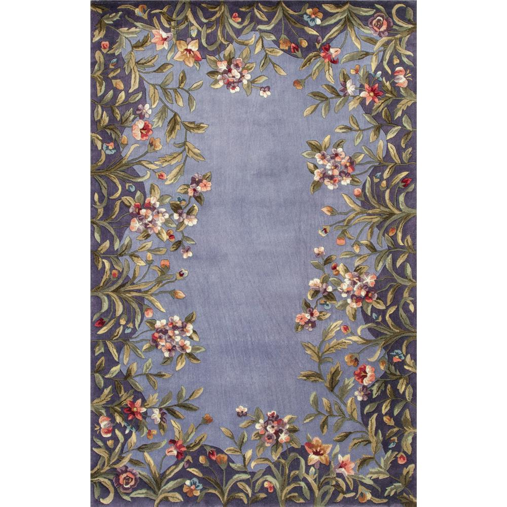 KAS 9006 Emerald 2 Ft. 6 In. X 8 Ft. Runner Rug in Lavender