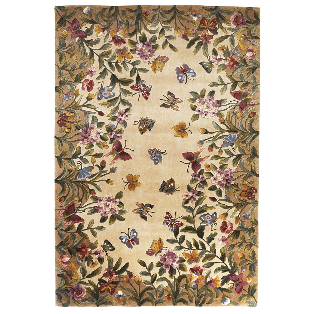 KAS 9019 Emerald 2 Ft. 6 In. X 8 Ft. Runner Rug in Antique Beige