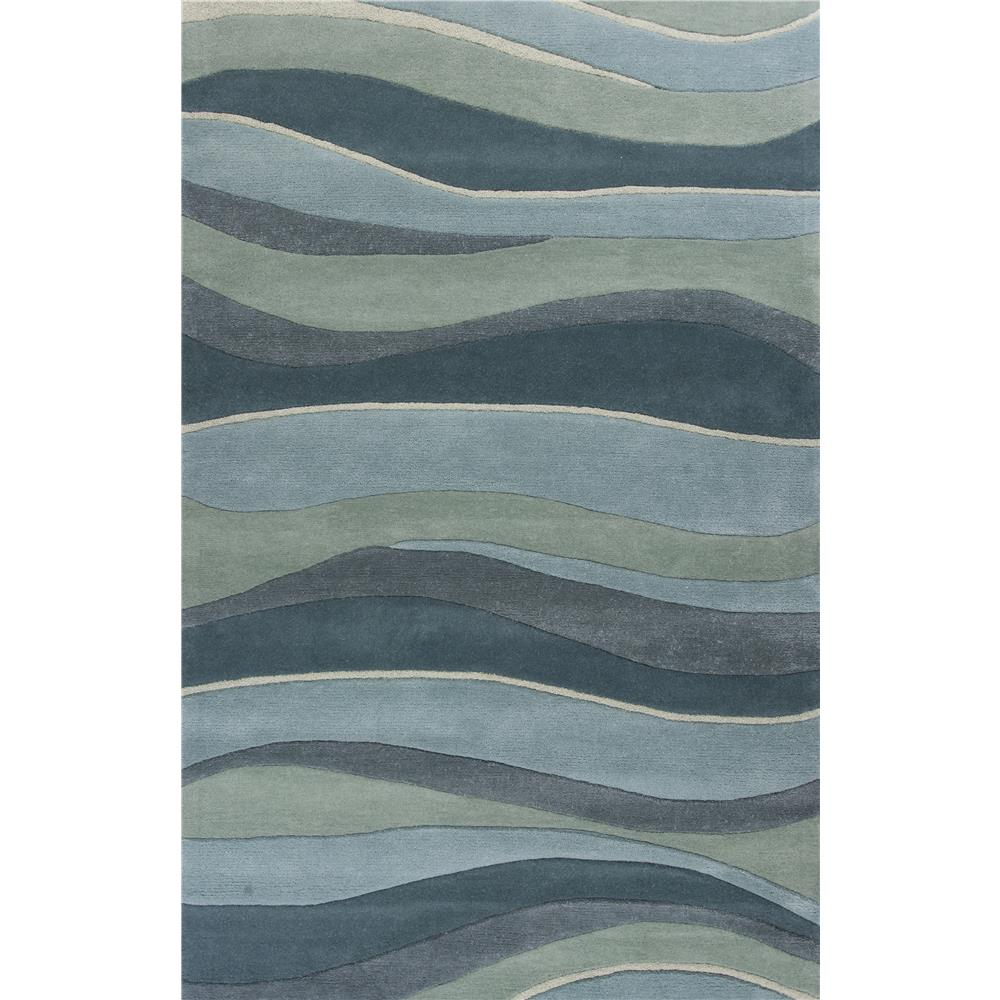 KAS 1053 Eternity 2 Ft. 3 In. X 7 Ft. 6 In. Runner Rug in Ocean