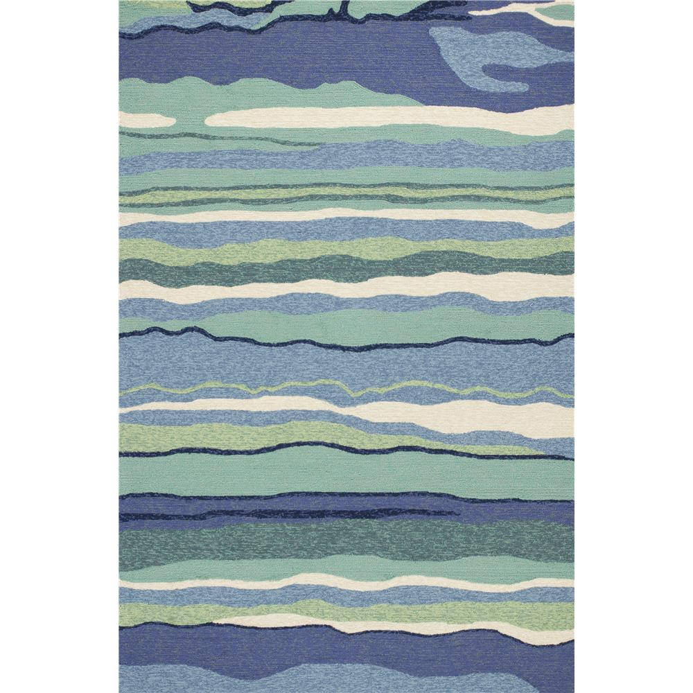 KAS HAR4216 Harbor 2 Ft. X 3 Ft. Rectangle Rug in Ocean
