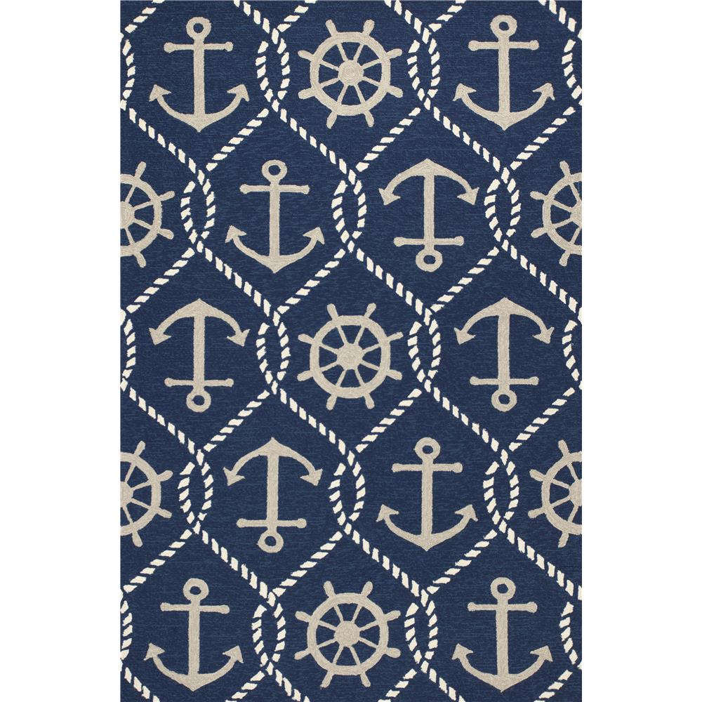KAS HAR4220 Harbor 2 Ft. X 3 Ft. Rectangle Rug in Navy