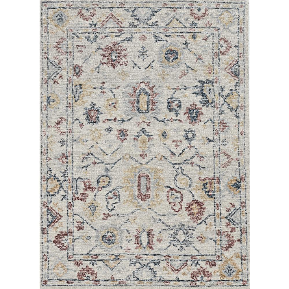 KAS 2460 Hudson 2 Ft. 3 In. X 8 Ft. Runner Rug in Ivory