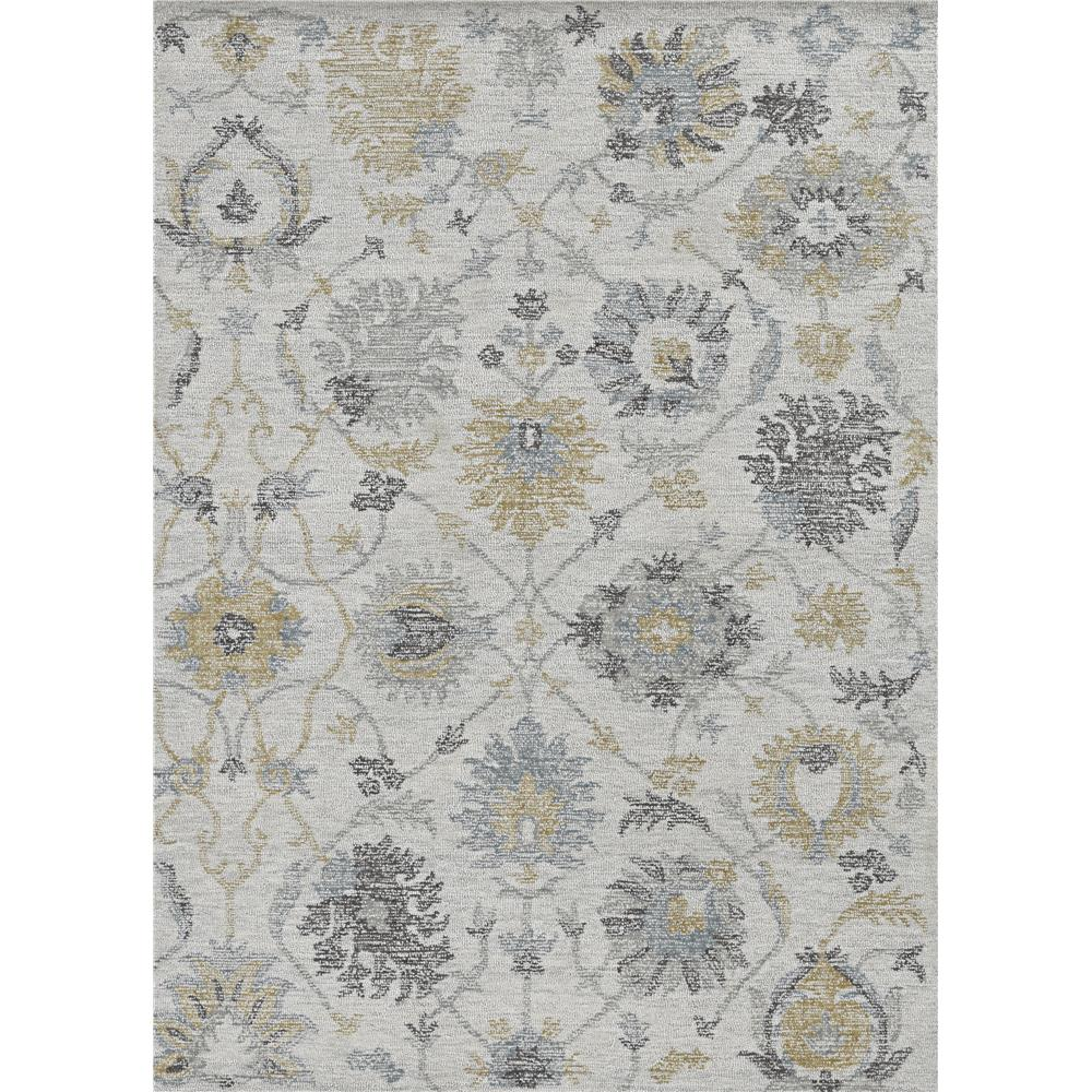KAS 2461 Hudson 2 Ft. 3 In. X 8 Ft. Runner Rug in Ivory