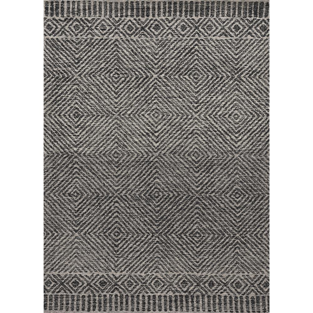 KAS 2463 Hudson 2 Ft. 3 In. X 8 Ft. Runner Rug in Grey/Black