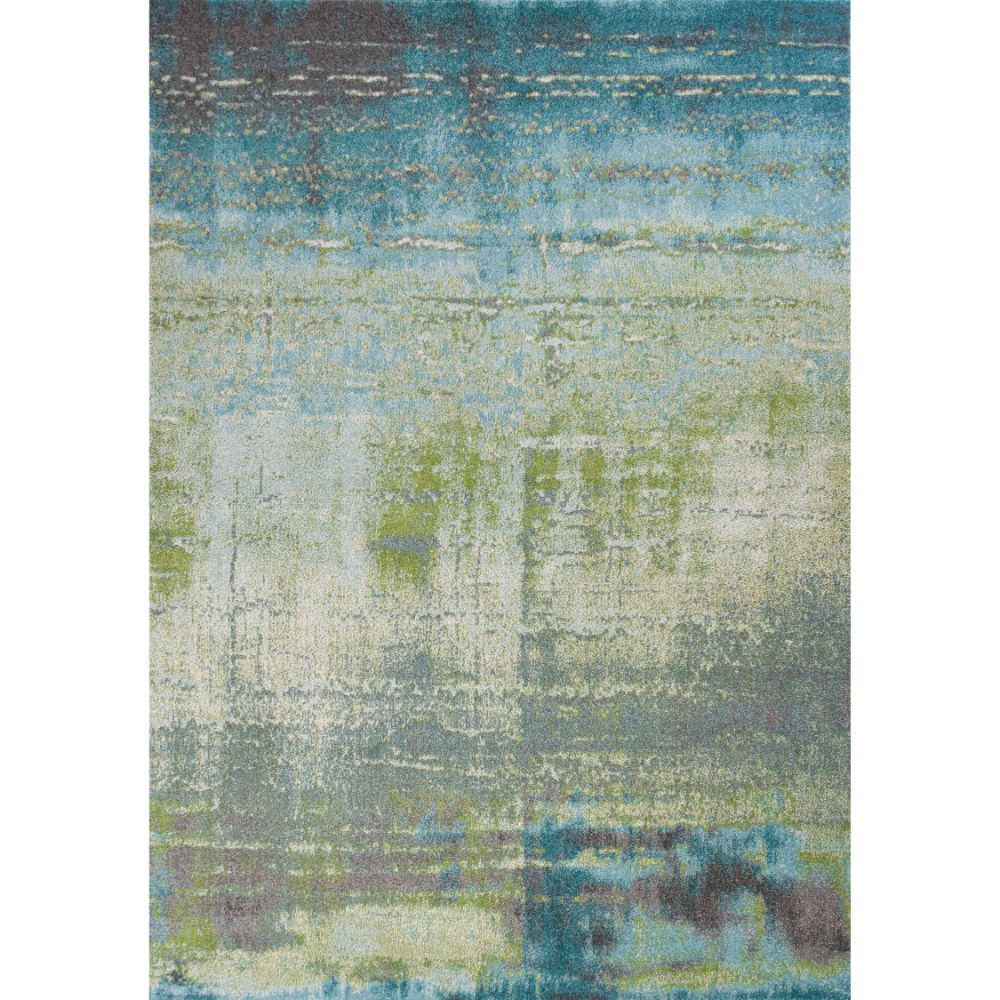 KAS ILL6206 Illusions 3 Ft. 3 In. X 4 Ft. 11 In. Rectangle Rug in Blues