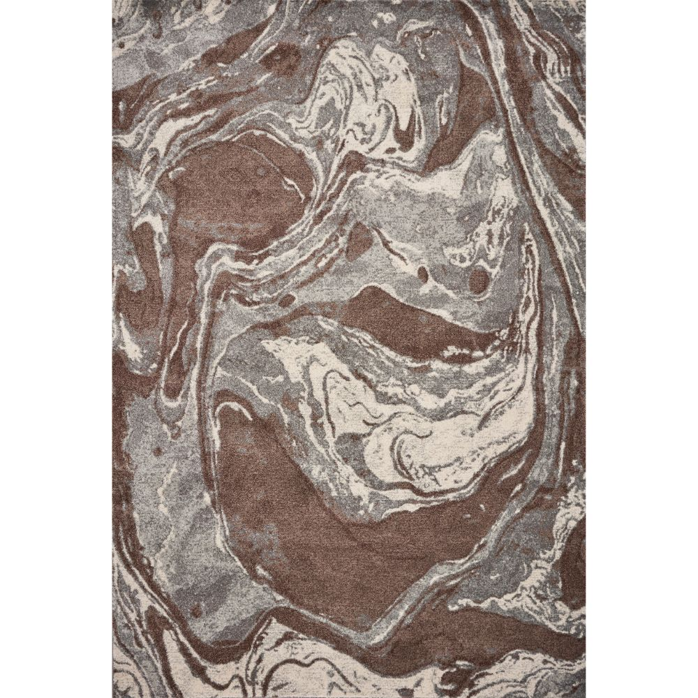 KAS 6217 Illusions 3 Ft. 3 In. X 4 Ft. 11 In. Rectangle Rug in Mocha