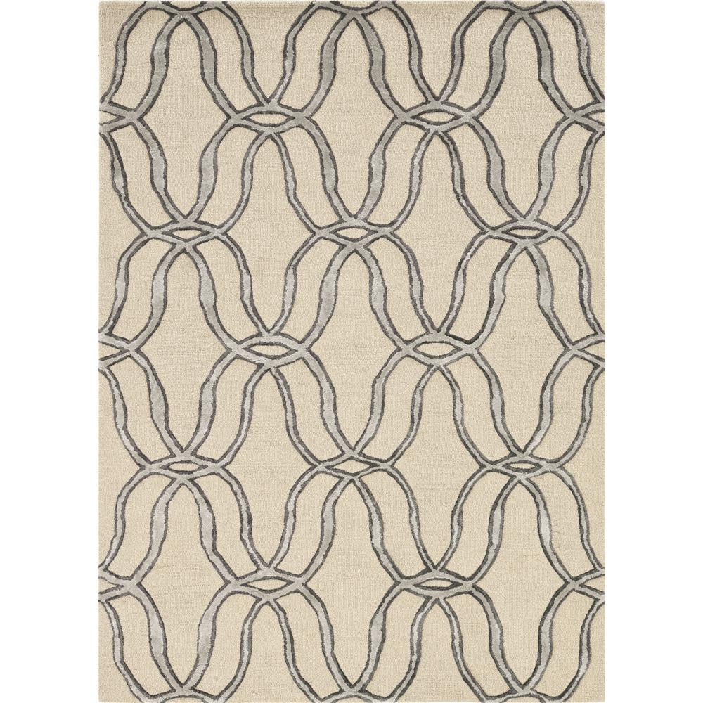 KAS 4300 Libby Langdon Upton 12 Ft. X 15 Ft. Rectangle Rug in Silver