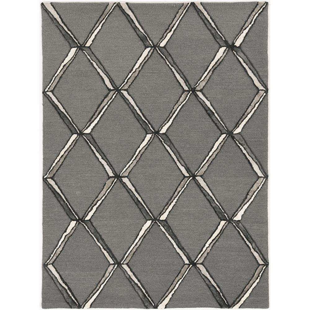 KAS 4308 Libby Langdon Upton 12 Ft. X 15 Ft. Rectangle Rug in Charcoal/Silver