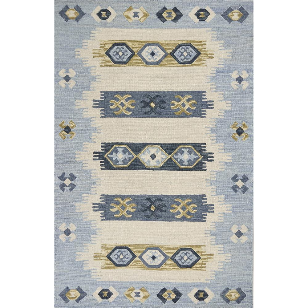 KAS 2900 Lisbon 3 Ft. 3 In. X 5 Ft. 3 In. Rectangle Rug in Ivory/Blue