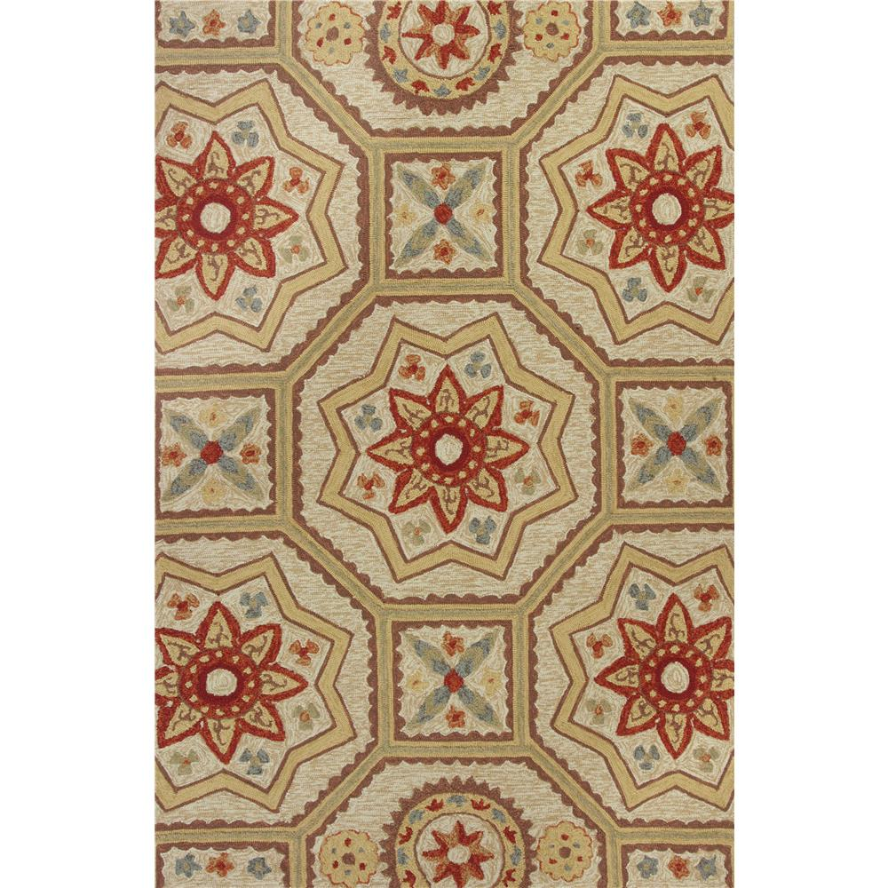 KAS 2526 Meridian 5 Ft. X 7 Ft. 6 In. Rectangle Rug in Sand