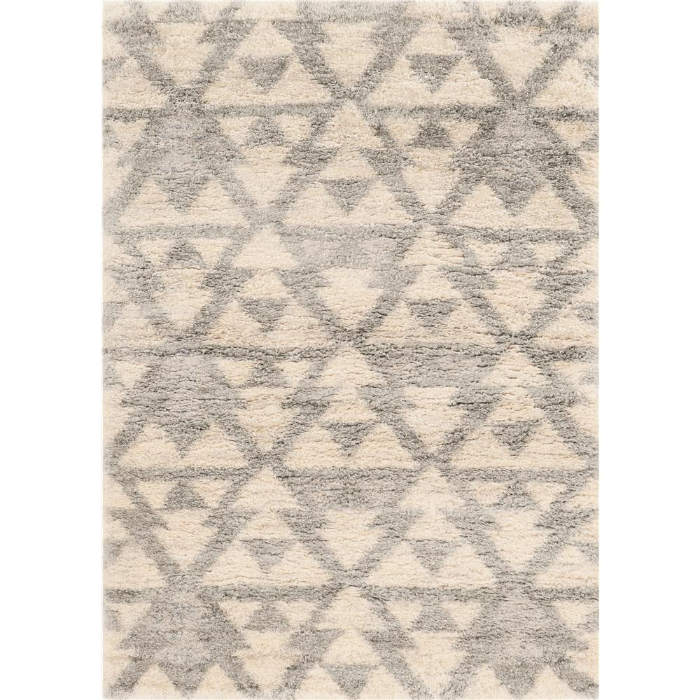 KAS 6701 Merino 3 Ft. 9 In. X 5 Ft. 11 In. Rectangle Rug in Ivory/Grey