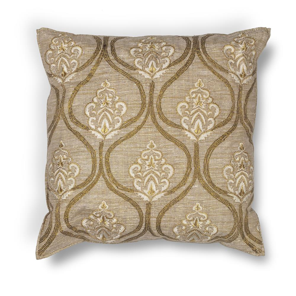 "KAS PILL182 18x18"" Pillow in Gold"