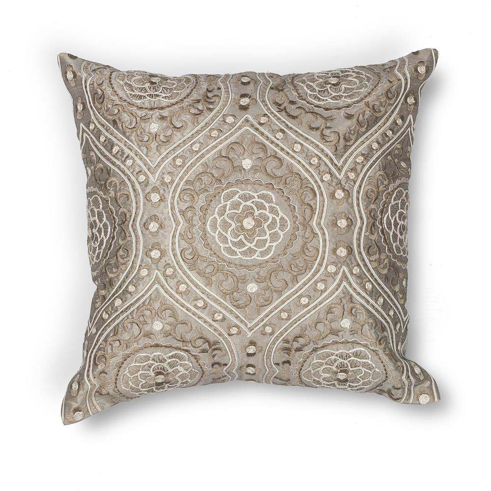 "KAS PILL183 18x18"" Pillow in Silver"