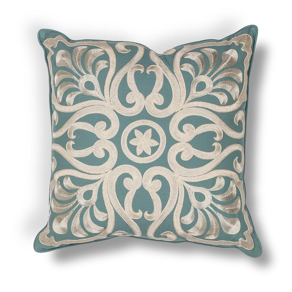"KAS PILL189 18x18"" Pillow in Teal"